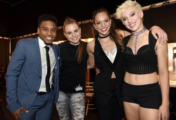 """SO YOU THINK YOU CAN DANCE: (L-R) Top 4 contestants Virgil Gadson, Jana """"JaJa"""" Vankova, Gaby Diaz and Hailee Payne on SO YOU THINK YOU CAN DANCE airing Monday, September 7 (8:00-10:00 PM ET live/PT tape-delayed) on FOX. ©2015 FOX Broadcasting Co. Cr: Michael Becker"""